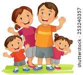 happy family | Shutterstock .eps vector #253240357