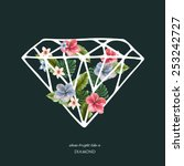 decorative diamond shape with... | Shutterstock .eps vector #253242727