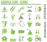 agriculture icons | Shutterstock .eps vector #253245613