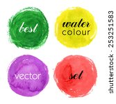 beautiful colorful watercolor... | Shutterstock .eps vector #253251583