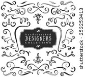 vintage decorative curls and... | Shutterstock .eps vector #253253413