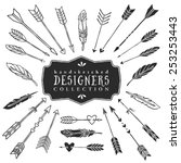 vintage decorative arrows and... | Shutterstock .eps vector #253253443