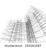 abstract architecture.... | Shutterstock . vector #253262587