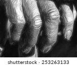 elderly fingers | Shutterstock . vector #253263133