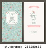 vintage vector card templates.... | Shutterstock .eps vector #253280683