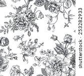 seamless vector vintage pattern ... | Shutterstock .eps vector #253282933