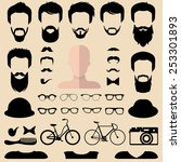 big vector set of dress up... | Shutterstock .eps vector #253301893