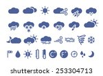 weather icons. simple flat... | Shutterstock .eps vector #253304713