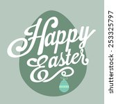 happy easter  background.vector | Shutterstock .eps vector #253325797
