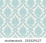 vector seamless damask pattern. ... | Shutterstock .eps vector #253329127