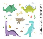 Dinosaurs Set. Vector...