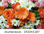 Various Flower Rose Gerbera...