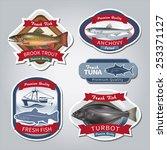 fish labels set 5. vector eps... | Shutterstock .eps vector #253371127