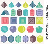 set of icons  geometric logo  | Shutterstock .eps vector #253377067