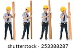 young asian child construction... | Shutterstock . vector #253388287