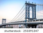 manhattan bridge | Shutterstock . vector #253391347
