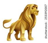 golden lion | Shutterstock .eps vector #253392007