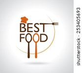 best food  vector icons  sign ... | Shutterstock .eps vector #253405693
