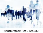 commuter business people... | Shutterstock . vector #253426837