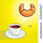 vector illustration of coffee... | Shutterstock .eps vector #253435567