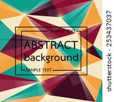 modern abstract background... | Shutterstock .eps vector #253437037