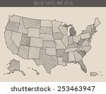 map of usa with separable... | Shutterstock .eps vector #253463947
