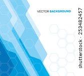 futuristic blue technical... | Shutterstock .eps vector #253482457