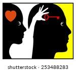 psychology of love. concept...   Shutterstock . vector #253488283