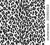 seamless leopard pattern. black ...   Shutterstock .eps vector #253501513