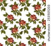 rose seamless pattern   Shutterstock .eps vector #253505203