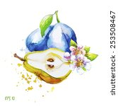 pear and plum  all elements on...   Shutterstock .eps vector #253508467