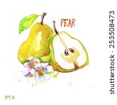 pear  all elements on separate...   Shutterstock .eps vector #253508473