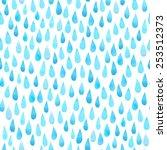 Watercolor Rain Drops  Seamles...