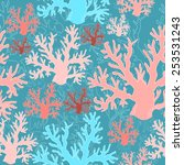 vector abstract coral pattern. | Shutterstock .eps vector #253531243