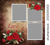 vintage love background with... | Shutterstock . vector #253535353