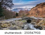 Ashness Bridge And Snow Covere...