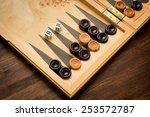 Color Detail Of A Backgammon...