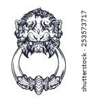 lion head door knocker. hand...