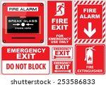 set of  fire alarm  fire alarm  ... | Shutterstock .eps vector #253586833