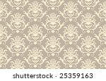 abstract vector seamless damask ... | Shutterstock .eps vector #25359163