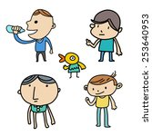 friend funny character | Shutterstock .eps vector #253640953