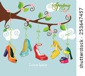 vector spring card.flowering...   Shutterstock .eps vector #253647457