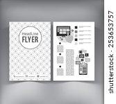 abstract  brochure flyer design ... | Shutterstock .eps vector #253653757