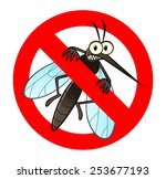 Anti Mosquito Sign With A Funn...