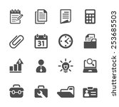 business and office icon set ...