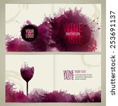 invitation template for event... | Shutterstock .eps vector #253691137