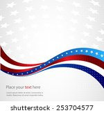 abstract image of the american... | Shutterstock .eps vector #253704577