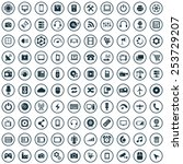 100 technology icons | Shutterstock .eps vector #253729207
