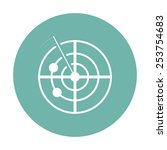 radar icon.    Shutterstock .eps vector #253754683