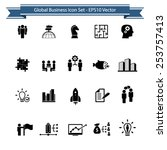 global business icon set | Shutterstock .eps vector #253757413